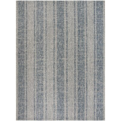 Myers Gray/Blue Indoor/Outdoor Area Rug Rug Size: Rectangle 8 x 11