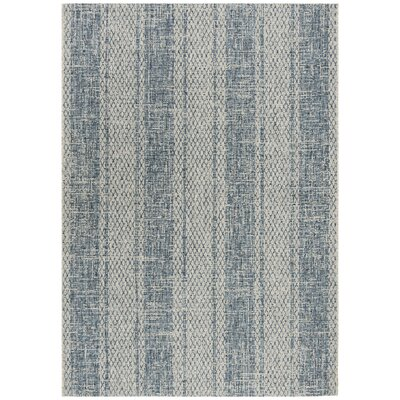 Myers Gray/Blue Indoor/Outdoor Area Rug Rug Size: Rectangle 53 x 77