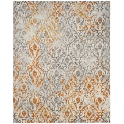 Loretta Gray/Orange Area Rug Rug Size: Rectangle 8 x 10