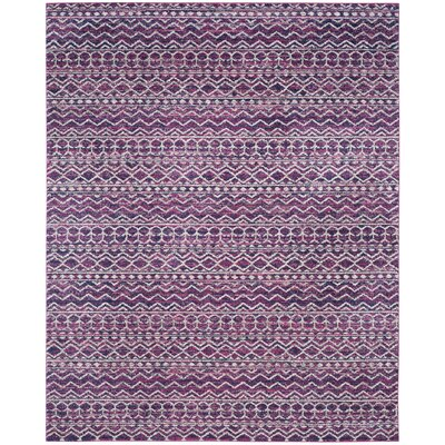Loretta Fuchsia/Navy Area Rug Rug Size: Rectangle 8 x 10