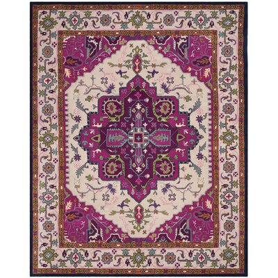 Blokzijl Hand-Tufted Wool Purple Area Rug Rug Size: Rectangle 8 x 10