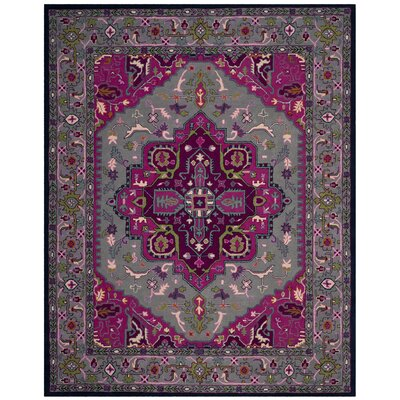 Blokzijl Hand-Tufted Wool Gray Area Rug Rug Size: Rectangle 8 x 10