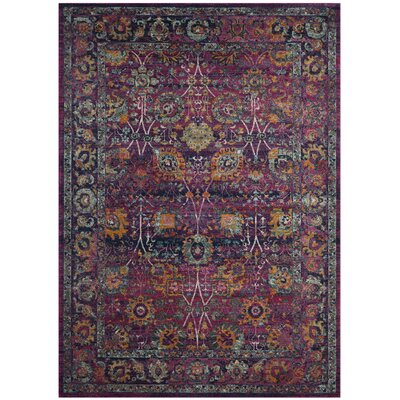 Melody Fuchsia Area Rug Rug Size: Rectangle 67 x 9