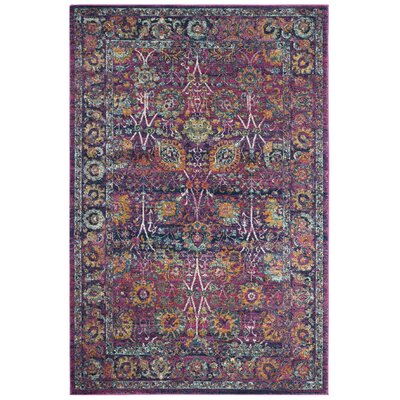 Melody Fuchsia Area Rug Rug Size: Rectangle 51 x 76