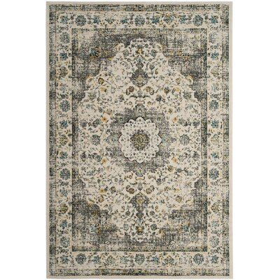 Elson Gray/Gold Area Rug Rug Size: Rectangle 51 x 76