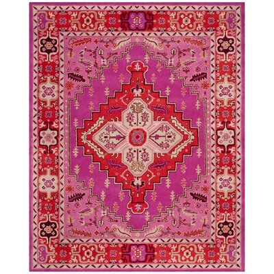 Blokzijl Hand-Tufted Wool Red Area Rug Rug Size: Rectangle 8 x 10