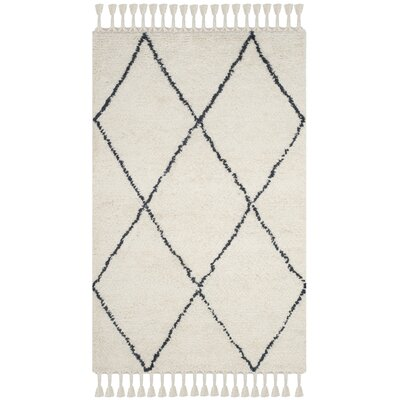 Lockheart Hand-Tufted Beige/Black Area Rug Rug Size: Rectangle 5 x 8