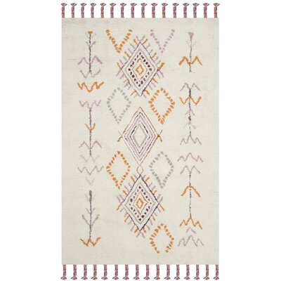 Lockheart Hand-Tufted Gray/Orange Area Rug Rug Size: Rectangle 5 x 8