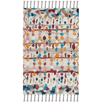 Lockheart Hand-Tufted Beige/Blue Area Rug Rug Size: Rectangle 4 x 6