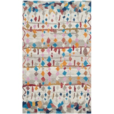 Lockheart Hand-Tufted Beige/Blue Area Rug Rug Size: Rectangle 5 x 8