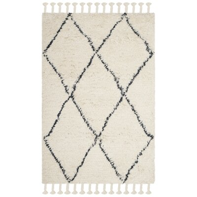 Lockheart Hand-Tufted Beige/Black Area Rug Rug Size: Rectangle 4 x 6