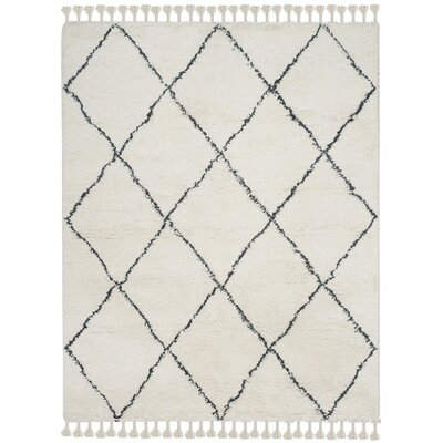 Lockheart Hand-Tufted Beige/Black Area Rug Rug Size: Rectangle 8 x 10