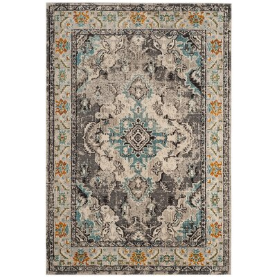 Newburyport Grey & Silver Area Rug Rug Size: Rectangle 51 x 77