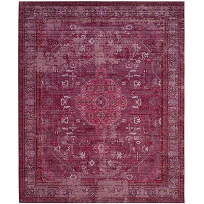 Esmeyer Red Area Rug Rug Size: Rectangle 8 x 10
