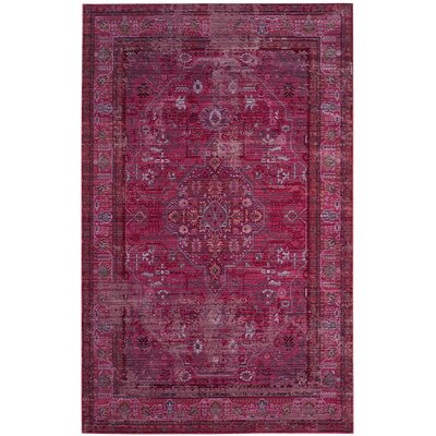 Esmeyer Red Area Rug Rug Size: Rectangle 5 x 8