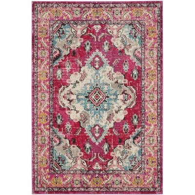 Elston Pink Area Rug Rug Size: Rectangle 51 x 77