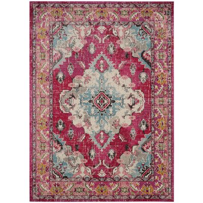 Elston Pink Area Rug Rug Size: Rectangle 8 x 11