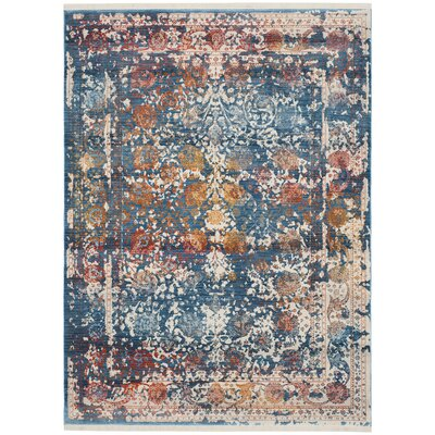 Marigold Blue Area Rug Rug Size: Rectangle 5 x 76