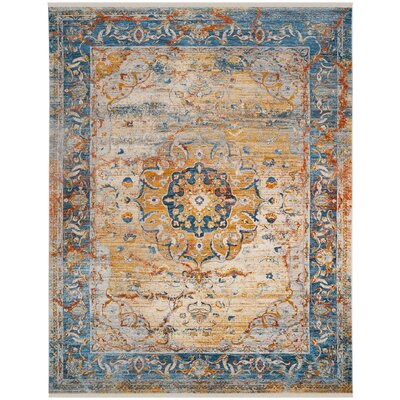 Marigold Blue/Orange Area Rug Rug Size: Rectangle 8 x 10