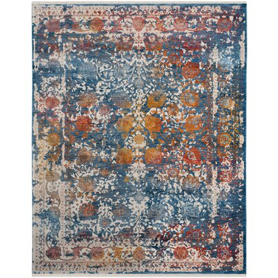 Marigold Blue Area Rug Rug Size: Rectangle 8 x 10