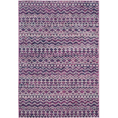 Grieve Fuchsia/Navy Area Rug Rug Size: Rectangle 51 x 76
