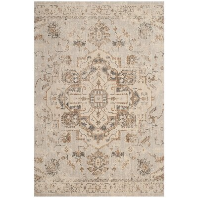 Manya Light Blue/Beige Area Rug Rug Size: Rectangle 5'1