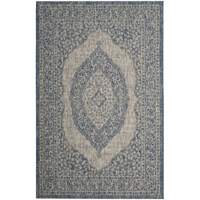 Myers Gray/Blue Area Rug Rug Size: Rectangle 53 x 77