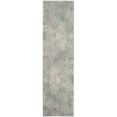Lulu Gray/Light Blue Area Rug Rug Size: Runner 23 x 8