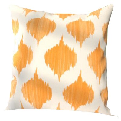 Kingman 100% Cotton Throw Pillow Cover Size: 18 H x 18 W x 1 D, Color: OrangeNeutral