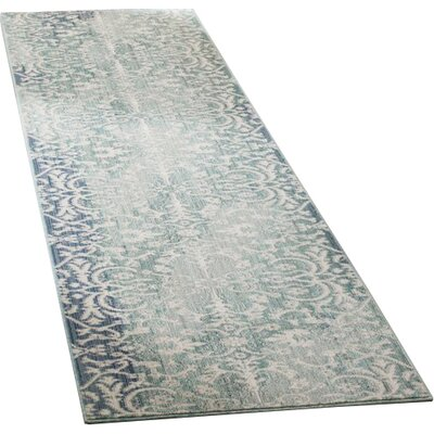 Lulu Blue Area rug Rug Size: Runner 23 x 8
