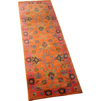Devona Orange Montesque Area Rug Rug Size: Runner 26 x 10