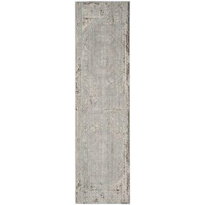Esmeyer Gray Area Rug Rug Size: Runner 23 x 8