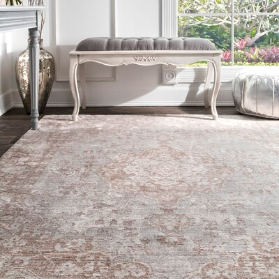 Calantha Beige Area Rug Rug Size: Rectangle 53 x 77