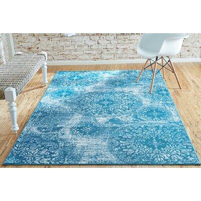 Brandt Blue Indoor Area Rug Rug Size: Rectangle 4 x 6