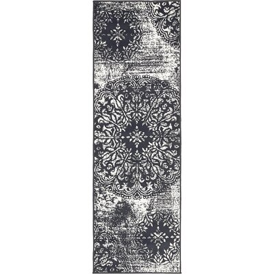 Brandt Black/White Area Rug Rug Size: Runner 2 x 67