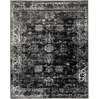 Brandt Black/White Area Rug Rug Size: Rectangle 9 x 12