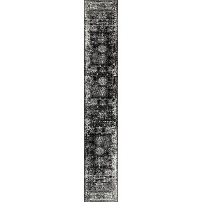 Brandt Black/White Area Rug Rug Size: Runner 2 x 13