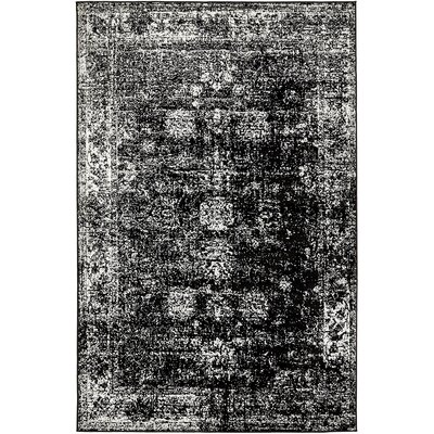 Brandt Black/White Area Rug Rug Size: Rectangle 5 x 8