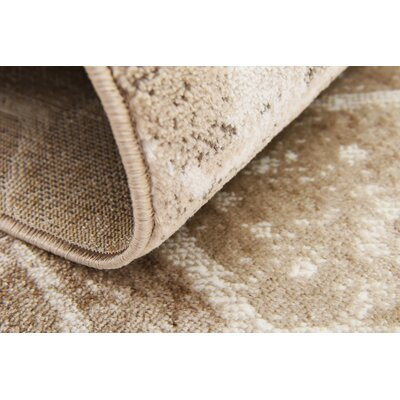 Brandt Dark Beige Area Rug Rug Size: Rectangle 5 x 8