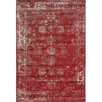 Brandt Burgundy Area Rug Rug Size: Rectangle 8 x 10
