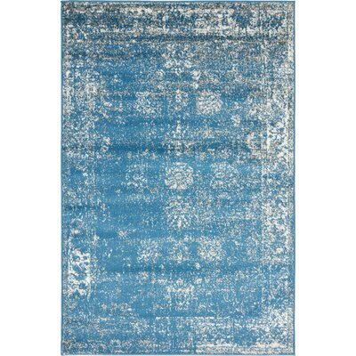 Brandt Oriental Blue Area Rug Rug Size: Rectangle 5 x 8