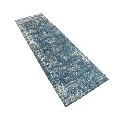 Brandt Oriental Blue Area Rug Rug Size: Runner 2 x 13
