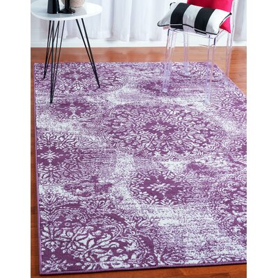 Brandt Purple Area Rug Rug Size: Rectangle 8 x 10