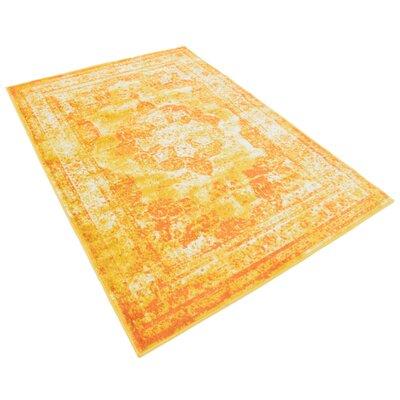 Brandt Yellow/Orange Area Rug Rug Size: Rectangle 4 x 6