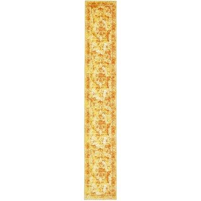Brandt Yellow/Orange Area Rug Rug Size: Runner 2 x 13