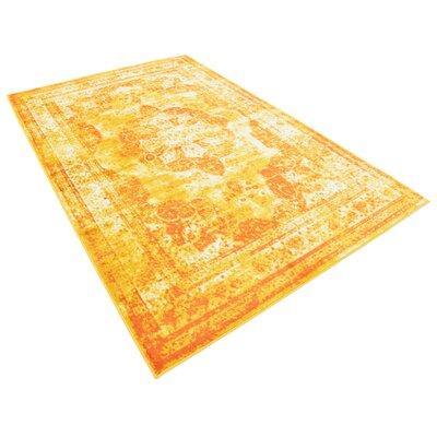 Brandt Yellow/Orange Area Rug Rug Size: Rectangle 5 x 8