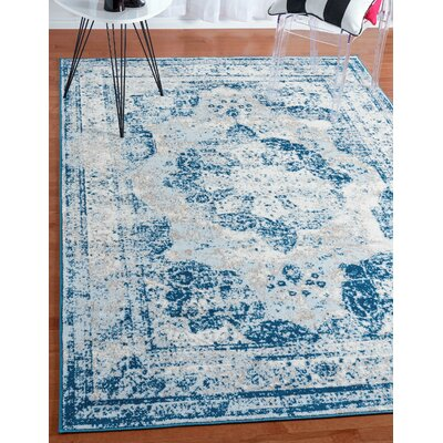 Brandt Tibetan Blue Area Rug Rug Size: Rectangle 5 x 8