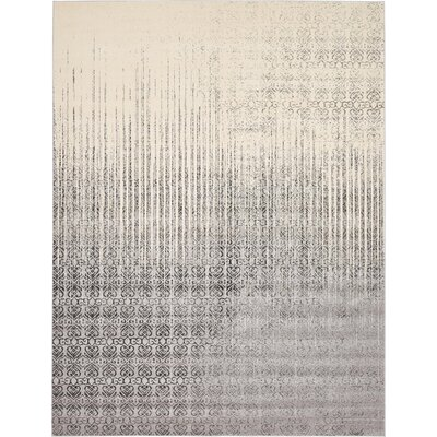 Deniece Gray Area Rug Rug Size: Rectangle 10 x 13