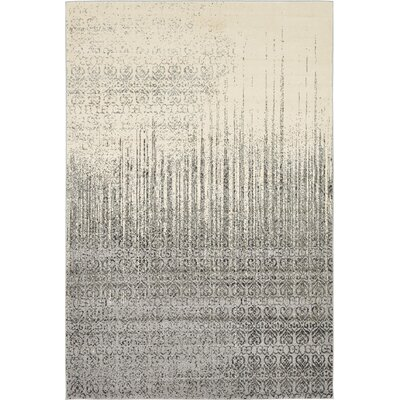 Deniece Gray Area Rug Rug Size: Rectangle 6 x 9