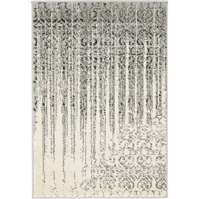 Deniece Gray Area Rug Rug Size: Rectangle 2 x 3